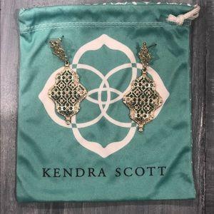 Kendra Scott Gold Filigree Drop Earrings